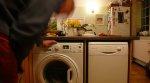 pralka w kuchni